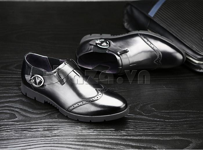Giày da nam Olunpo QXD1403  dáng giày không dây