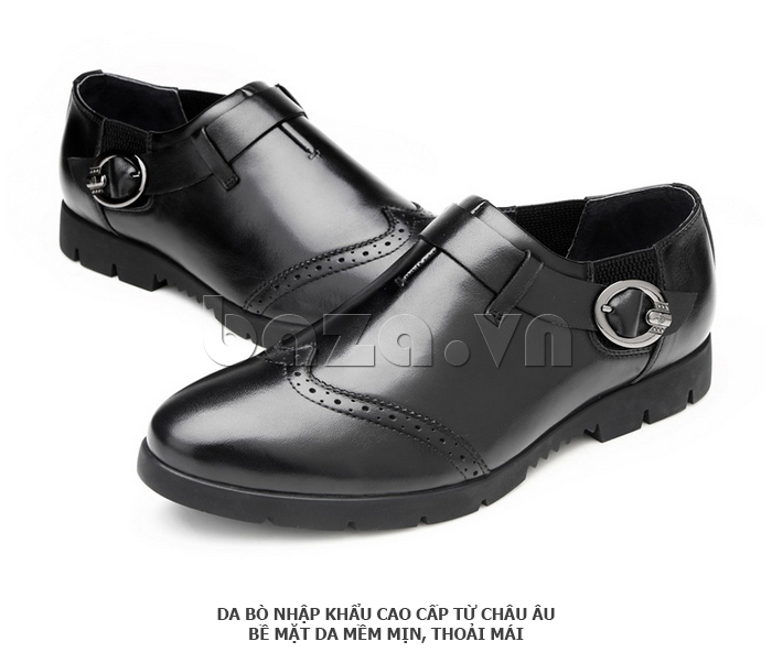 Giày da nam Olunpo QXD1403  da cao cấp