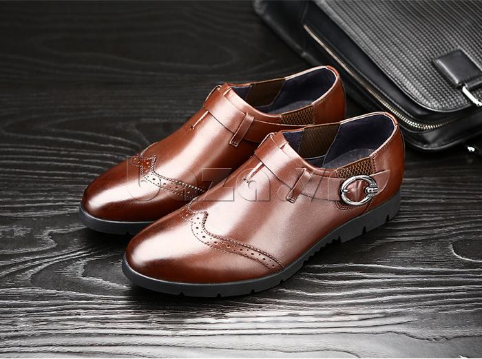 Giày da nam Olunpo QXD1403  màu nâu trẻ trung dễ phối đồ