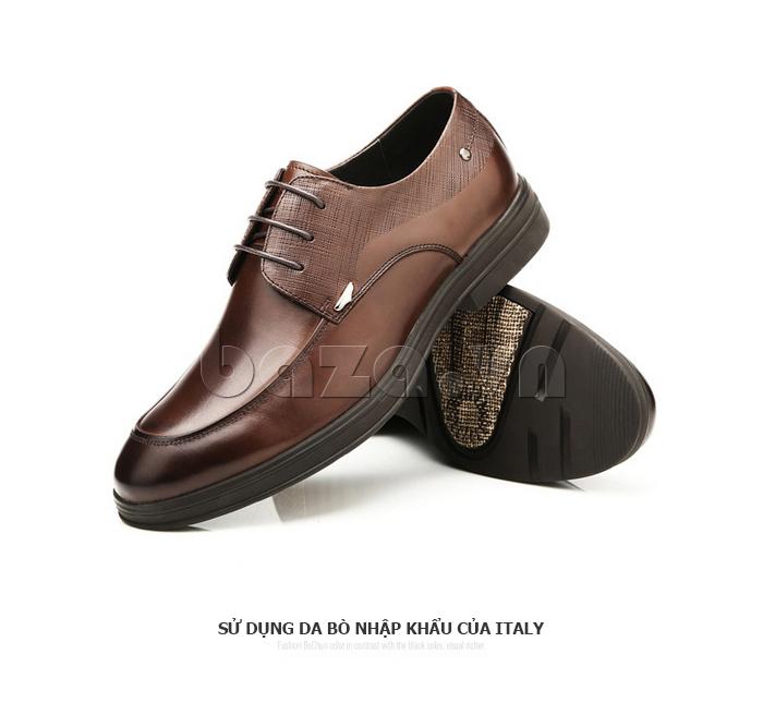 Giày da nam thời trang OLUNPO QHSL1405 sử dụng da bò nhập khẩu của Ý