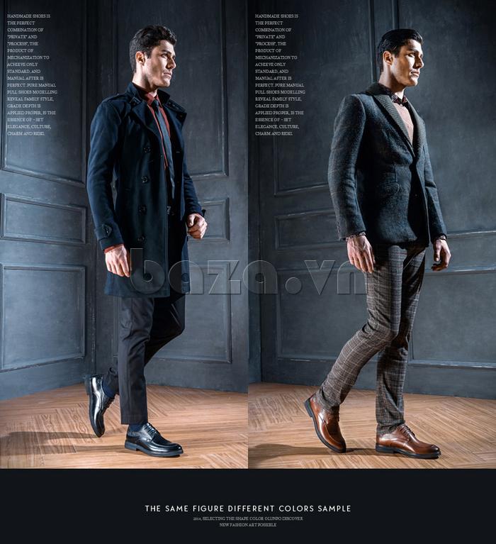 Giày da nam thời trang OLUNPO QHSL1405 giúp bạn tự do phối đồ