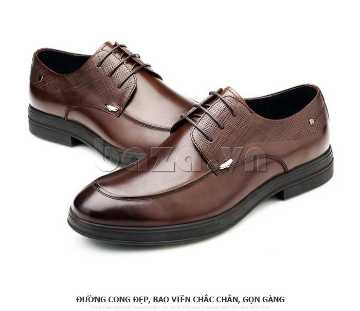 Giày da nam thời trang OLUNPO QHSL1405 thiết kế đường cong đẹp, chắc chắn