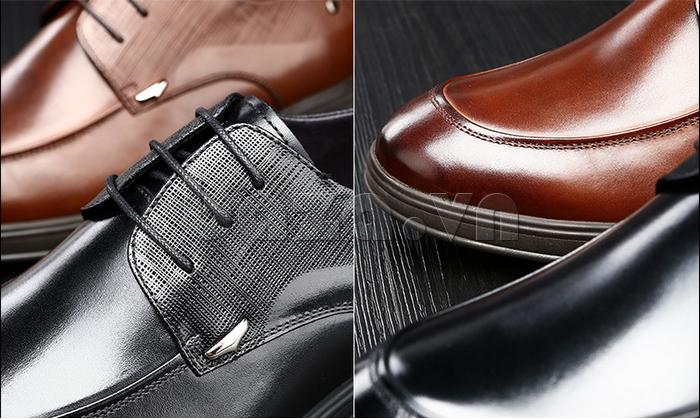 Giày da nam thời trang OLUNPO QHSL1405 hoàn mỹ đến từng chi tiết