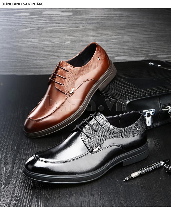 Giày da nam thời trang OLUNPO QHSL1405 màu sắc nhã nhặn, lịch lãm