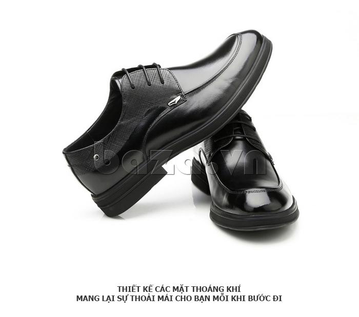 Giày da nam thời trang OLUNPO QHSL1405 màu đen dễ phối đồ