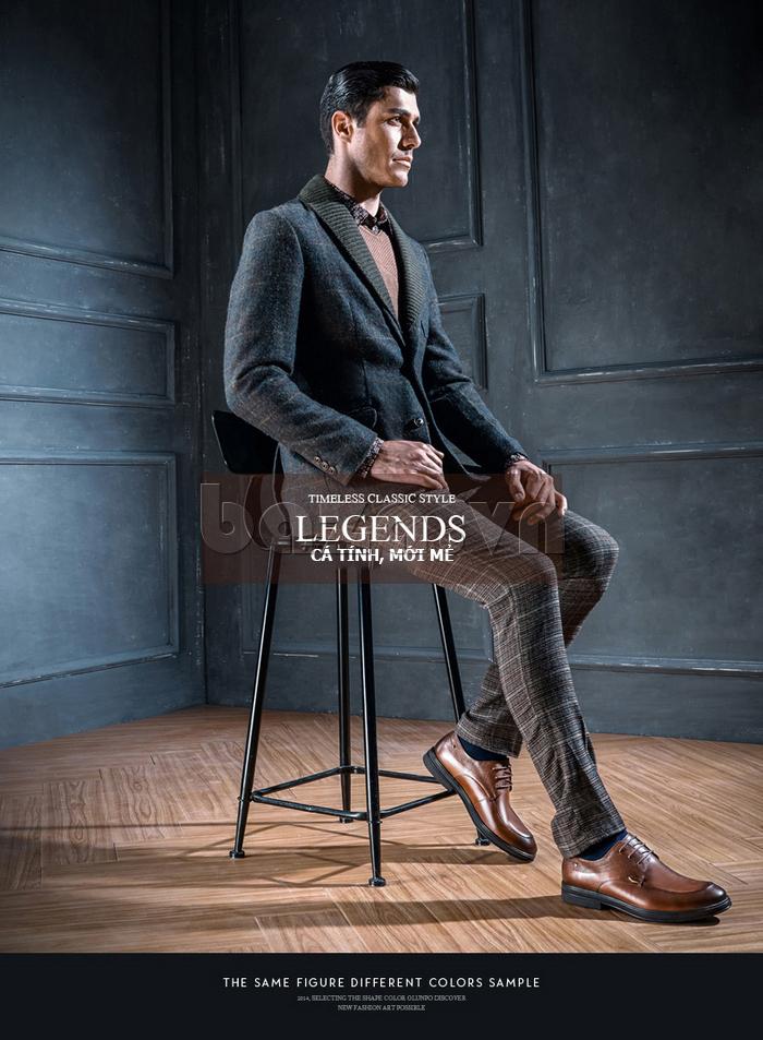 Giày da nam thời trang OLUNPO QHSL1405 thỏa sức sáng tạo