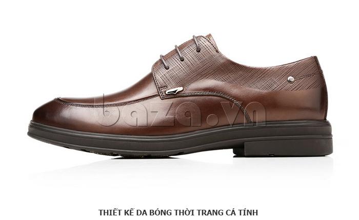 Giày da nam thời trang OLUNPO QHSL1405 thiết kế da bóng cá tính