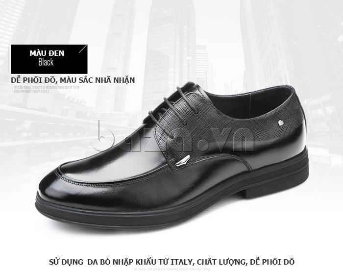 Giày da nam thời trang OLUNPO QHSL1405 có màu sắc nhã nhặn