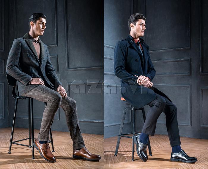 Giày da nam thời trang OLUNPO QHSL1405 thể hiện phong thái trầm ổn