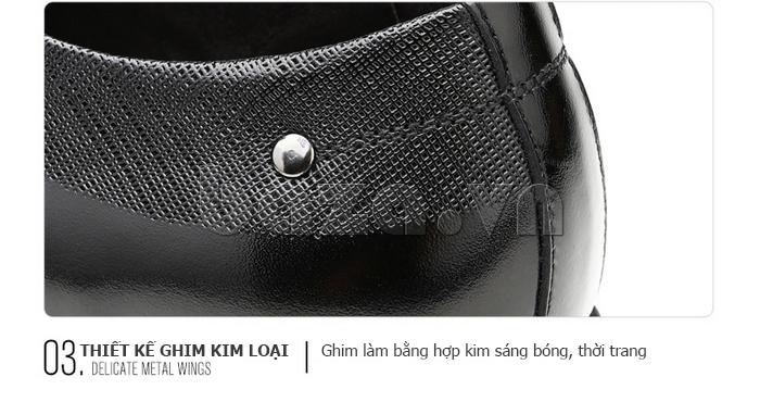 Giày da nam thời trang OLUNPO QHSL1405 sử dụng công nghệ khâu Italy