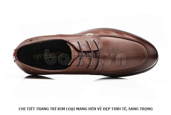 Giày da nam thời trang OLUNPO QHSL1405 được trang trí kim loại tinh tế và sang trọng