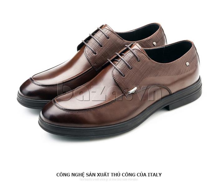 Giày da nam thời trang OLUNPO QHSL1405 sử dụng công nghệ thủ công Italy