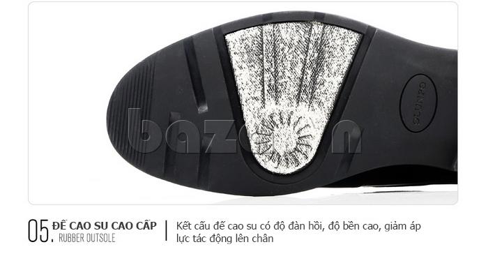 Giày da nam thời trang OLUNPO QHSL1405 được thiết kế hoa văn chìm