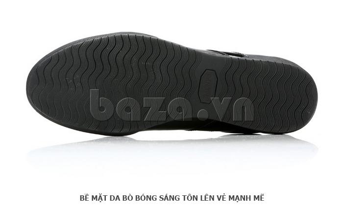 Giày da nam Olunpo QHT1426 vân đế dạng sóng chống trơn trượt
