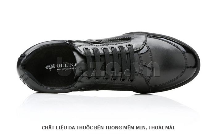 Giày da nam Olunpo QHT1426 phối chất liệu và màu sắc ấn tượng