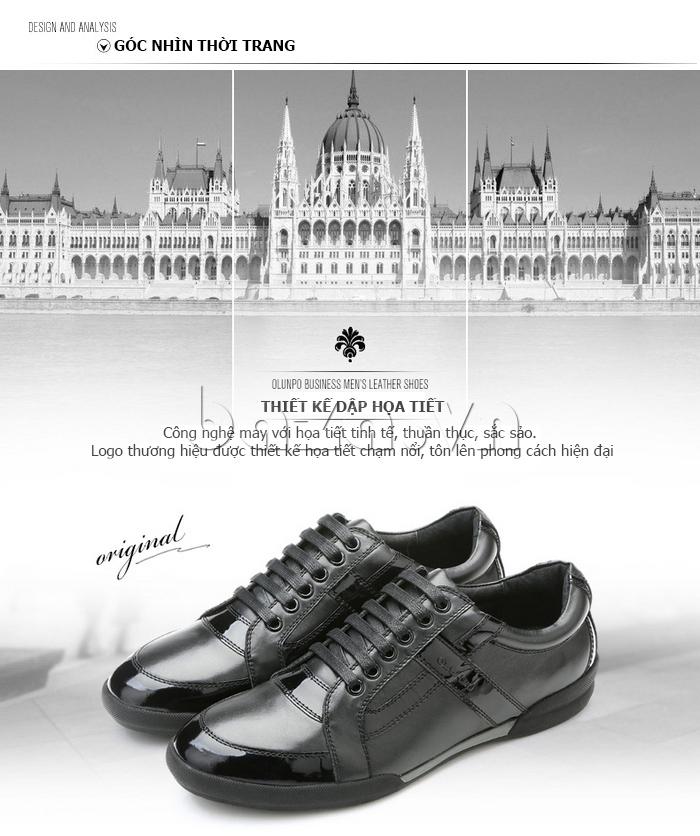Giày da nam Olunpo QHT1426 thể hiện góc nhìn thời trang