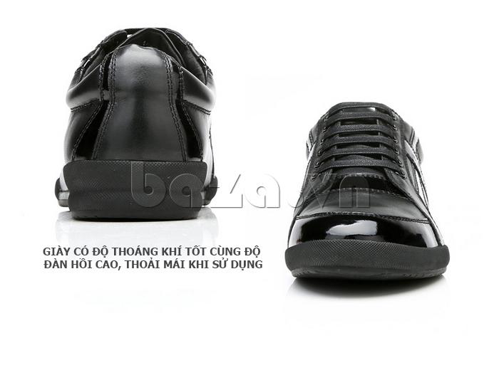 Giày da nam Olunpo QHT1426 thoáng khí, giúp chân thoải mái