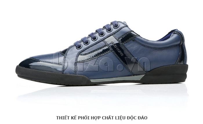 Giày da nam Olunpo QHT1426 được phối chất liệu độc đáo
