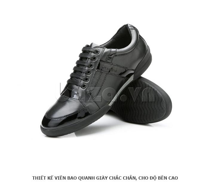 Giày da nam Olunpo QHT1426 thiết kế viền bao quanh đẹp mắt