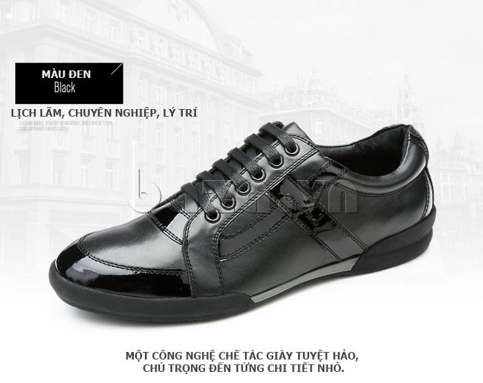 Giày da nam Olunpo QHT1426 thể hiện phong cách lịch lãm, chuyên nghiệp