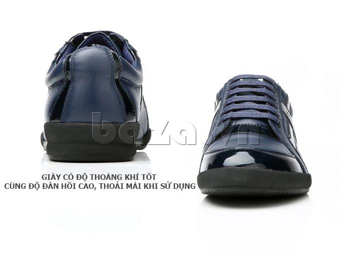 Giày da nam Olunpo QHT1426 có độ đàn hồi, thoáng khí