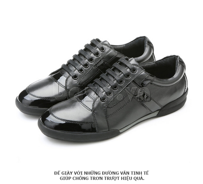 Giày da nam Olunpo QHT1426 đế giày có vân tinh tế