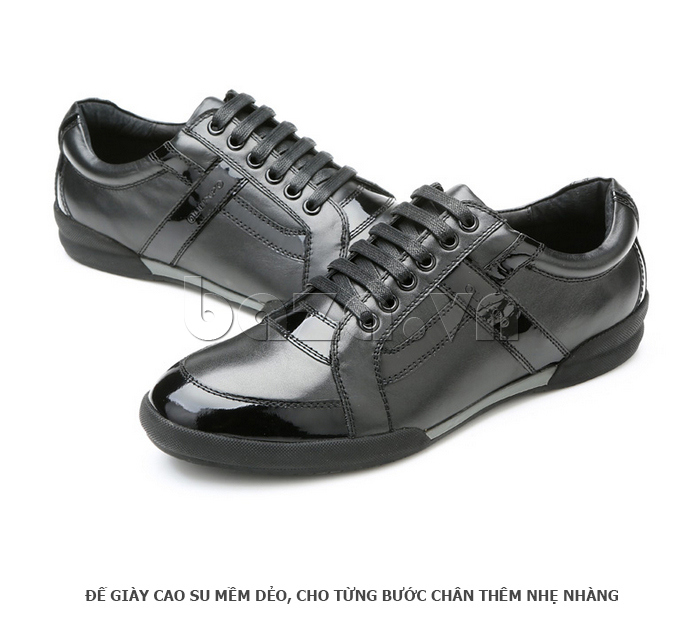 Giày da nam Olunpo QHT1426 sử dụng đế cao su mềm dẻo