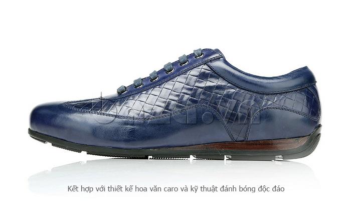Giày da nam Olunpo QHT1436 sử dụng kỹ thuật đánh bóng độc đáo