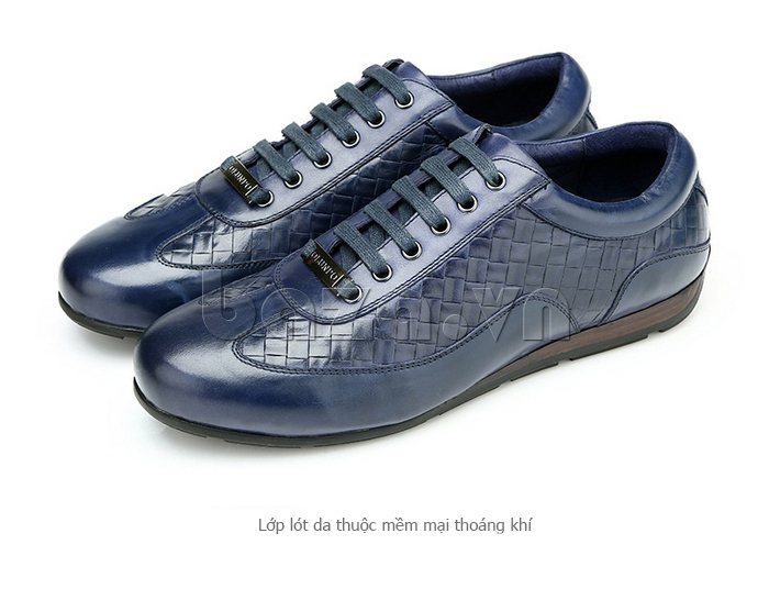Giày da nam Olunpo QHT1436 ấn tượng