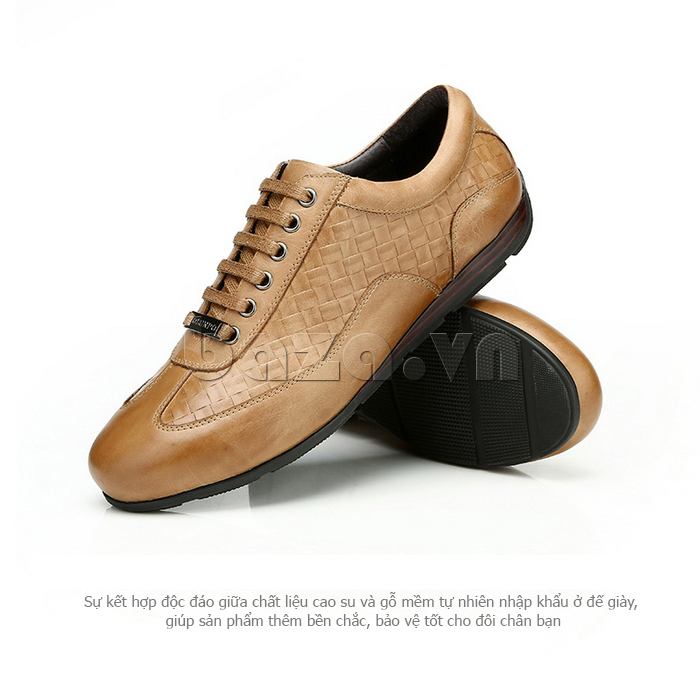 Giày da nam Olunpo QHT1436 kiểu dáng đẹp mắt