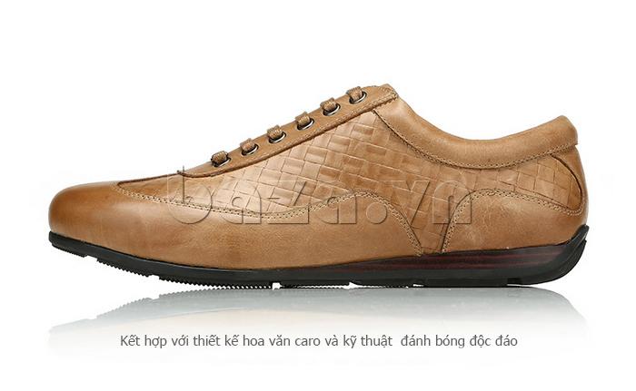Giày da nam Olunpo QHT1436 sử dụng kỹ thuật đánh bóng cao cấp