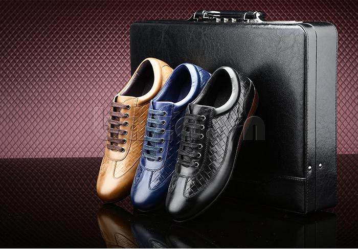 Giày da nam Olunpo QHT1436 có 3 màu ấn tượng