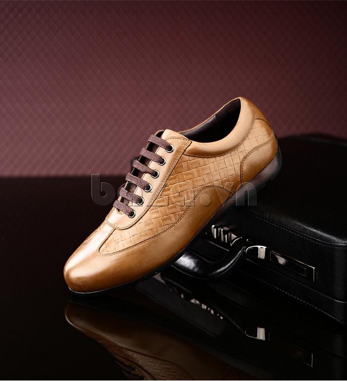 Giày da nam Olunpo QHT1436 kiểu dáng thể thao