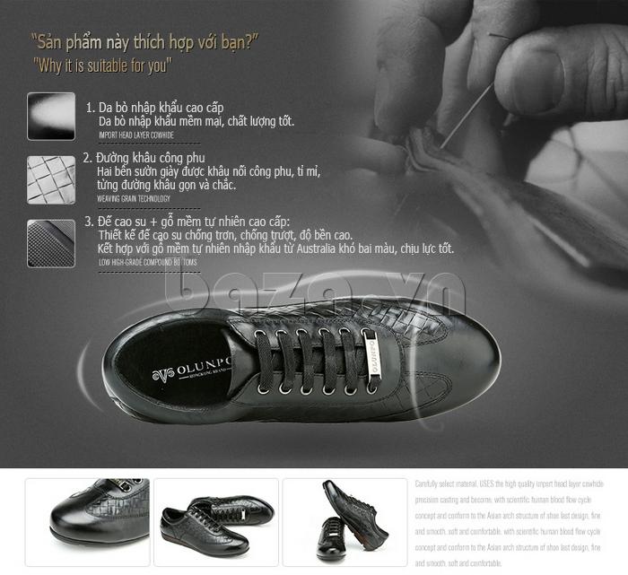 ưu điểm của Giày da nam Olunpo QHT1436