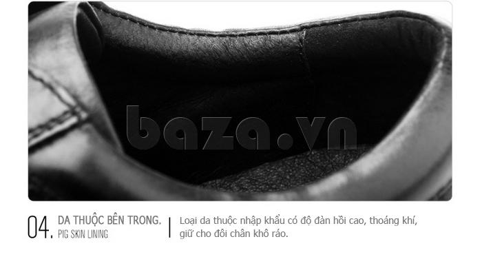 Giày da nam Olunpo QHT1436 sử dụng lớp da thuộc cao cấp