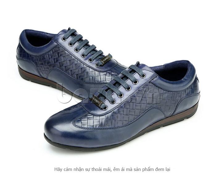Giày da nam Olunpo QHT1436 nâng niu bàn chân