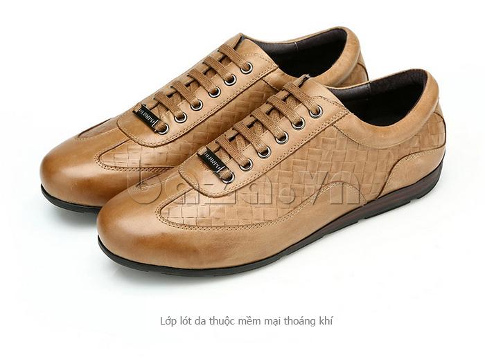 Giày da nam Olunpo QHT1436 lớp lót da mềm mại và thoáng khí
