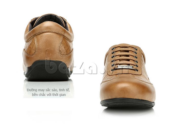 Giày da nam Olunpo QHT1436 có đường may sắc sảo tinh tế