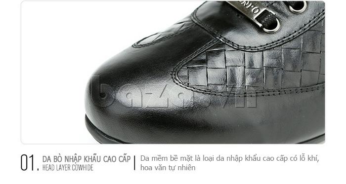 Giày da nam Olunpo QHT1436 sử dụng da bò nhập khẩu cao cấp