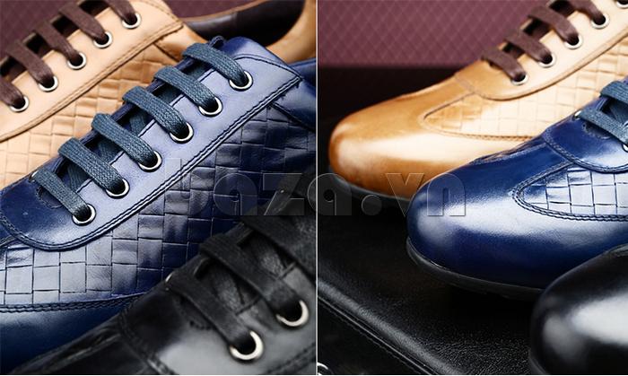 Giày da nam Olunpo QHT1422 có vẻ đẹp sang trọng