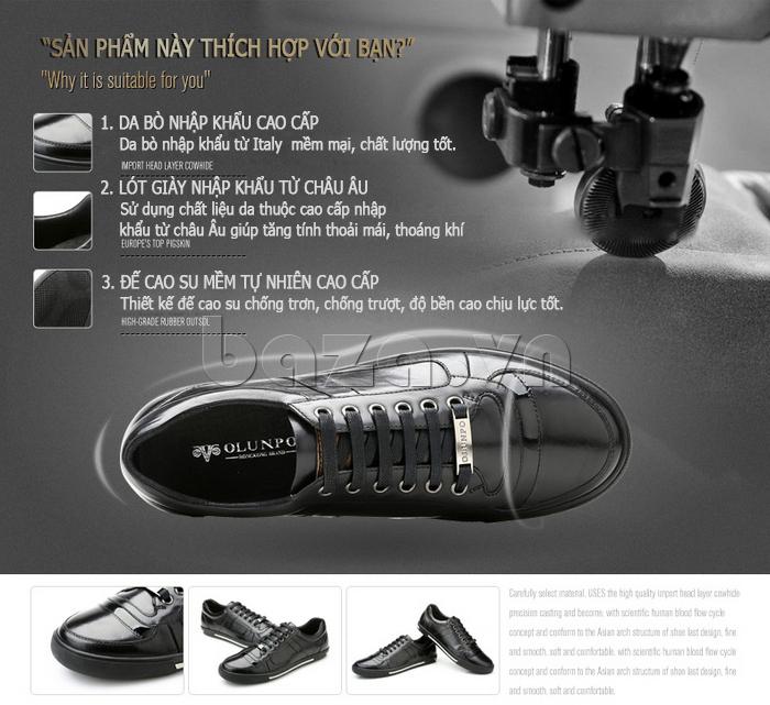 ưu điểm của Giày da nam Olunpo QHT1422