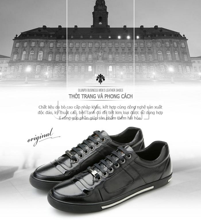 Giày da nam Olunpo QHT1422 thời trang và phong cách
