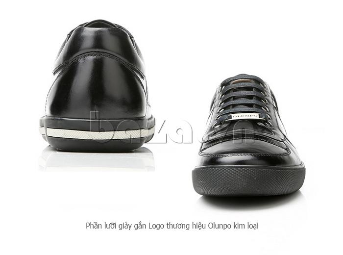 Giày da nam Olunpo QHT1422 vẻ đẹp sáng bóng