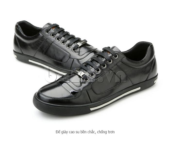 Giày da nam Olunpo QHT1422 có đế cao su bền chắc