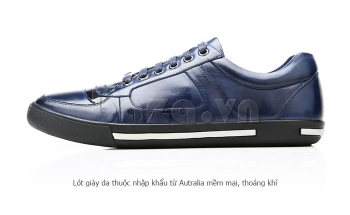 Giày da nam Olunpo QHT1422 thiết kế lót giày nhập khẩu từ Úc