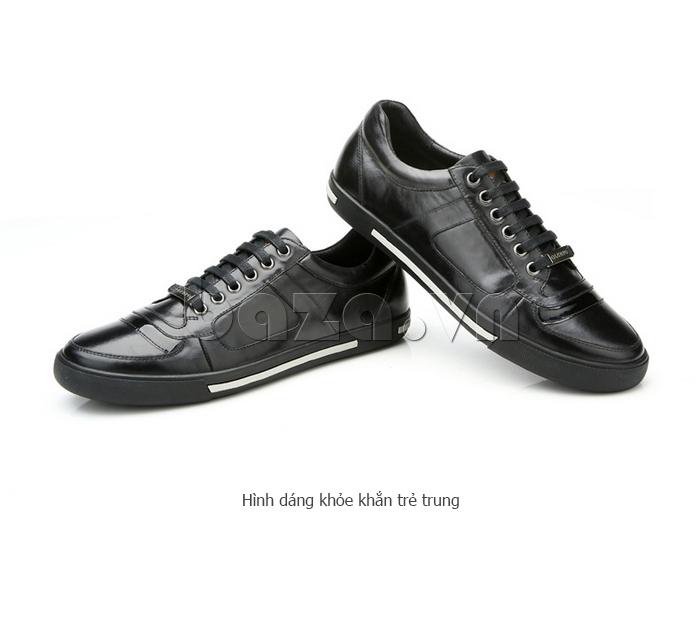 Giày da nam Olunpo QHT1422 kiểu dáng khỏe khoắn