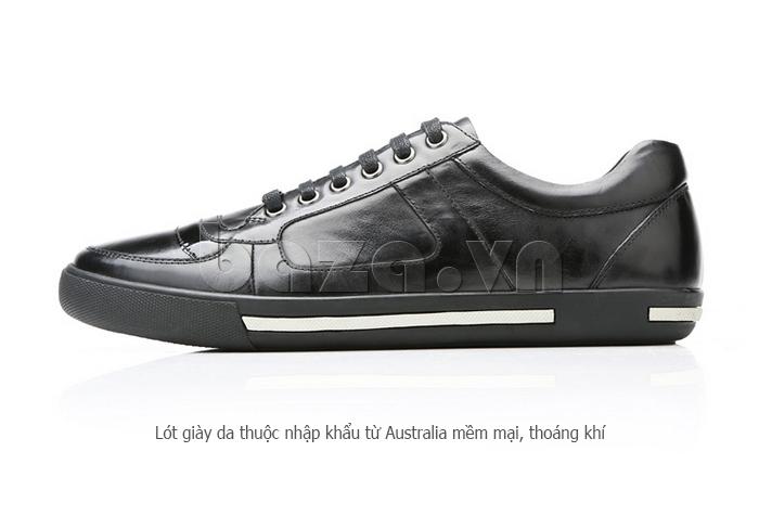 Giày da nam Olunpo QHT1422 sử dụng da thuộc mềm mại thoáng khí