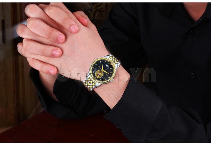 Đồng hồ cơ nam Vinoce V633231G mặt chạm rỗng thiết kế tuyệt vời