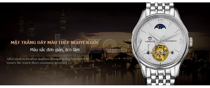 Đồng hồ cơ nam Vinoce V633231G mặt chạm rỗng thiết kế tuyệt