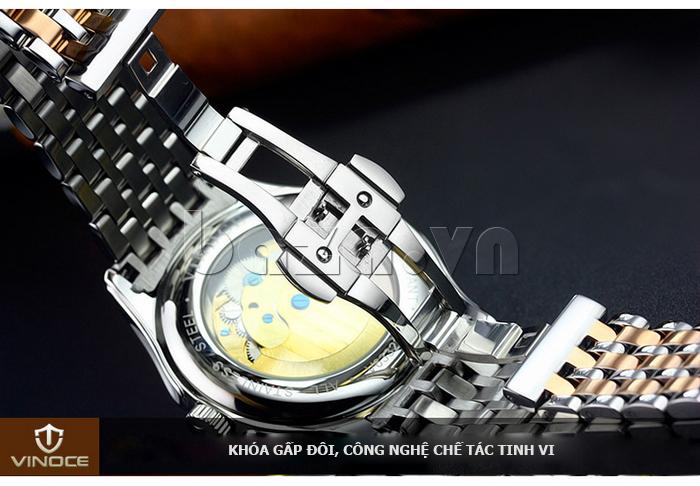 Đồng hồ cơ nam Vinoce V633231G mặt chạm rỗng thiết kế lạ
